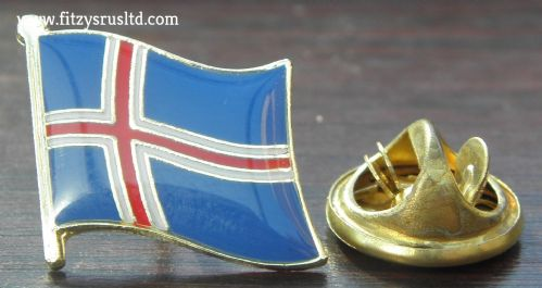 Iceland Iceland Country Flag Lapel Hat Cap Tie Pin Badge / Brooch Nordic sland